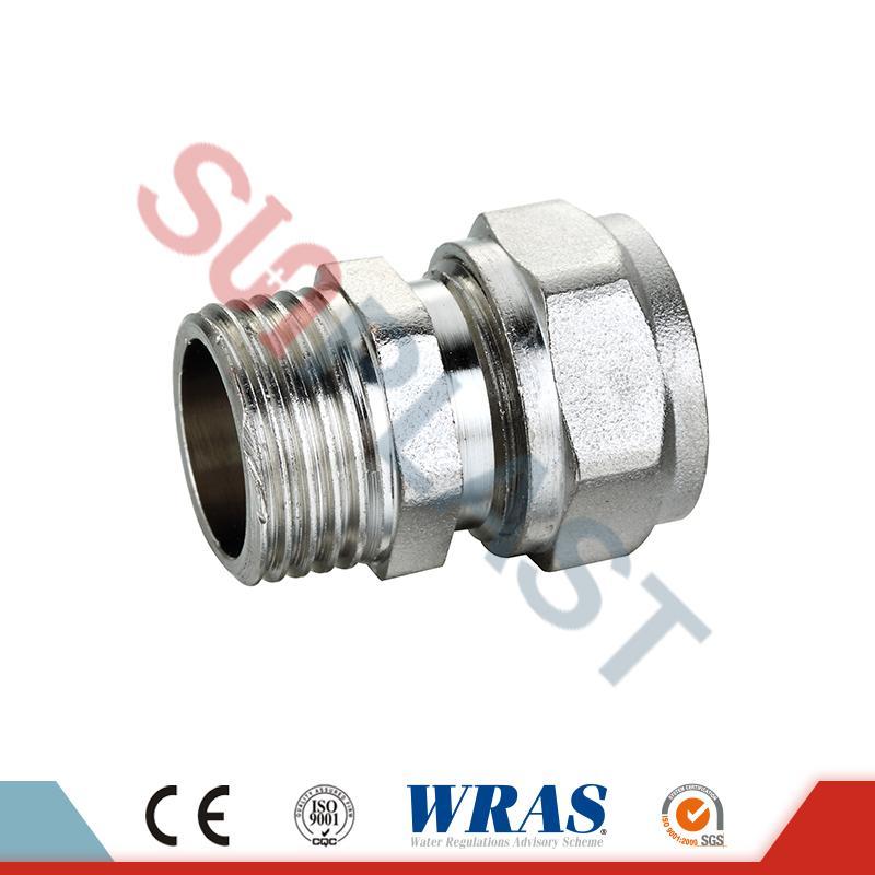 Messing-Pressverbinder für PEX-AL-PEX-Mehrschichtrohr